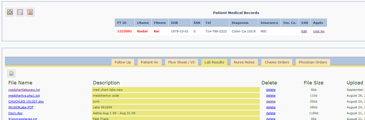 eSolutions - Patient Lab Reports